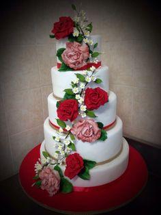 Cake 18 anni Trionfo di peonie