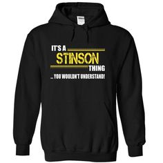 Its a STINSON Thing, You Wouldnt Understand! - #country sweatshirt #sweater shirt. LOWEST SHIPPING => https://www.sunfrog.com/Names/Its-a-STINSON-Thing-You-Wouldnt-Understand-riwkspbbfu-Black-10080924-Hoodie.html?68278