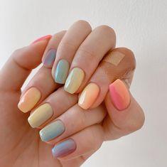 Cute Nails, Pretty Nails, Nail Atelier, Rainbow Nails, Minimalist Nails, Creative Nails, Nail Manicure, Nail Inspo, Beauty Nails