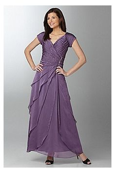 Gorgeous A-line Mother of the Bride Dress with Sequins and Pleats