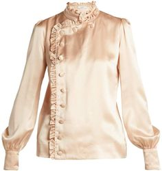 be2167e6a1246f Erdem Edlyn ruffle-trimmed silk blouse Ruffle Trim