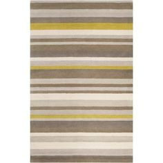 angelo:HOME Madison Square Green/Yellow Area Rug Rug Size: 2' x 3'