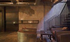 amazing mixing materials interior design restaurant