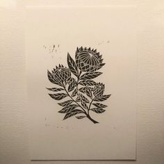This item is unavailable Print, Art Tattoo, Maple Leaf Tattoo, Sculpture, Lino Print, Artwork, Hand Carved, Ink, White Paper