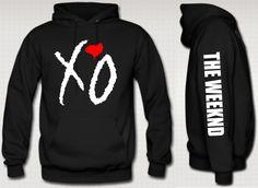 xo the weeknd hoodie red heart ovoxo the weeknd xo by khbdesign, $44.99