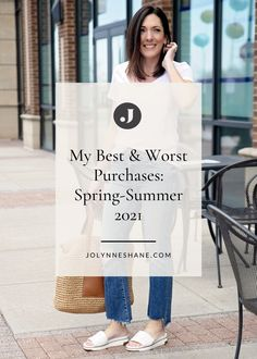 Fashion expert Jo-Lynne Shane shares what wardrobe purchases made her feel stylish this spring and summer. Check out the post for more fashion tips and tricks. Spring Summer Fashion, Spring Outfits, Everyday Casual Outfits, White Skinnies, Beautiful Sandals, Fashion For Women Over 40, Black Bra, Night Looks, Summer Wardrobe