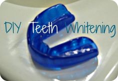 DIY Teeth Whitening- 2 parts baking soda, 1 part hydrogen peroxide.   Mix the 2 together until you get a toothpaste consistency. Fill the tray of a mouthguard, pop it in your mouth and leave for about 10-15 minutes. It might take a week or so to achieve the whiteness you're looking for.