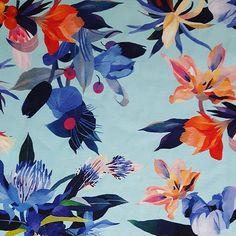 maria_qcz - #fabric #print #textile #madeinitaly #sewingtime #surfacespatterns #floral #floralprint #patterndesign