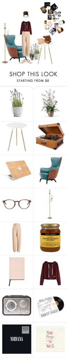 """playing music all day"" by caterinabi ❤ liked on Polyvore featuring Potting Shed Creations, Yamazaki, Crosley Radio & Furniture, Samsung, Poltrona Frau, Persol, JAlexander, Puma, Ødd. and RCA"