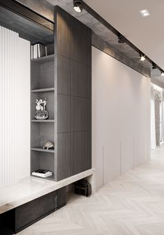 Neoclassical home interiors with grey decor. Modern meets classic home style with traditional ceiling coving, boiserie, wainscot & modern furniture designs. Neoclassical Interior Design, Wall Panel Molding, Purple Bedrooms, Modern Closet, Living Room Grey, Staircase Design, Cabinet Design, Home Interior, Decoration