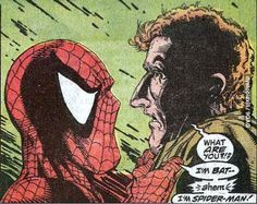 So I'm reading some old-school spidey, when suddenly…