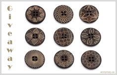 Buttons from AnnyMay. Perfect to upscale a old sweater. Dark brown Wooden Sewing Buttons - set of 9 natural wood button - Mixed Sewing A Button, Pattern Mixing, Kraft Envelopes, Biodegradable Products, Natural Wood, Craft Supplies, Diy Crafts, Dark Brown, Handmade