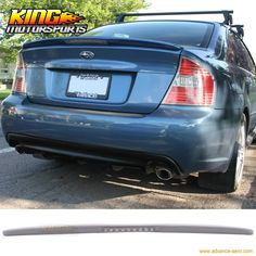 81.69$  Watch now - http://alicea.worldwells.pw/go.php?t=32686217671 - Fits 05-09 Subaru Legacy Sedan 4Dr Trunk Spoiler WithLED Brake Light Lamp (FRP) 81.69$