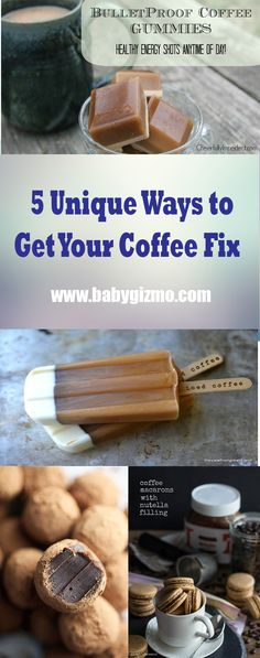5 Unique Ways to Get Your Coffee Fix. Caffeine? Yes, please! #Coffee