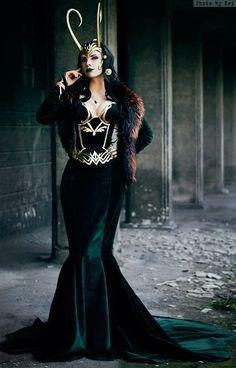 Lady Loki cosplay.