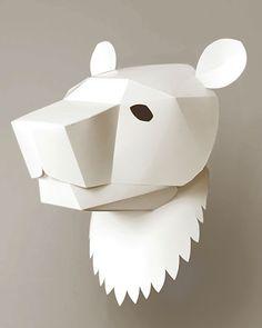 SOROCHELAB | Bear || 3D Paper Head for Kids Room