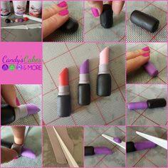 Lipstick fondant tutorial www.facebook.com/candyscakesandmore
