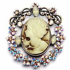 Pugster Vintage Flower Pattern Crystal Studded Elegant Victorianes Brooches And Pins - http://finejewelrygalleria.com/jewelry/brooches-pins/pugster-vintage-flower-pattern-crystal-studded-elegant-victorianes-brooches-and-pins-com/