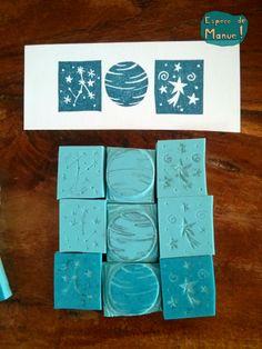 tampons-trio-systeme-solaire-fait-main- par Espèce de Manue !
