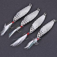 Sougayilang Spoons Hard Fishing Lures Treble Hooks Salmon Bass Metal Fishing Lure Baits Pack of 5pcs - http://fishinglures.nationalsales.com/sougayilang-spoons-hard-fishing-lures-treble-hooks-salmon-bass-metal-fishing-lure-baits-pack-of-5pcs/