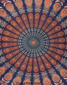 Mandala Tapestry Indian Hippie Round Roundie Beach Throw Towel Boho Yoga Mat #Handmade #Traditional #BeachThrowYogaMatTableCoverWallHanging