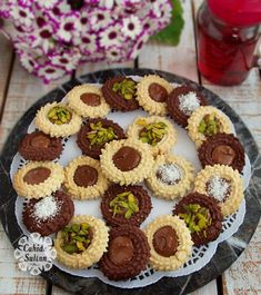 Chocolate Bird Nest Cookie – Famous Last Words Mini Desserts, Easy Desserts, Easy Cake Recipes, Baking Recipes, Biscuit Bar, Easy Healthy Breakfast, Homemade Ice, Turkish Recipes, Popular Recipes