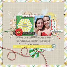 Papyrus {May} Templates, Sunshine Papers, Elements and Cards all by Sara Gleason; Custom Font