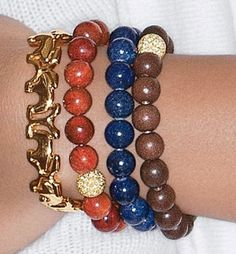 Wood Bead Bracelet $65