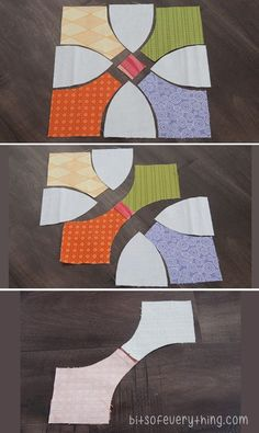 Quilt Tutorial - Instructions and free template to make the Flowering Snowball Quilt.