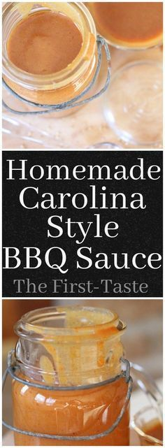 Homemade Carolina-Style BBQ Sauce-If you love your barbecue sauce extra tangy and more than a little sassy, then this Homemade Carolina-Style BBQ Sauce is for you! Quick and easy recipe! The http://First-Taste.com