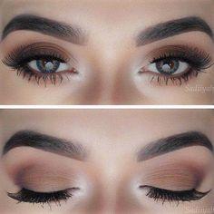 48 Magical Eye Makeup Ideas - - 48 Magical Eye Makeup Ideas Beauty Makeup Hacks Ideas Wedding Makeup Looks for Women Makeup Tips Prom Ma. Eye Makeup Tips, Makeup Goals, Skin Makeup, Makeup Inspo, Makeup Inspiration, Matte Makeup, Makeup Ideas, Matte Eyeshadow, Casual Eye Makeup