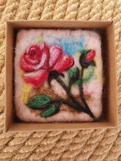 Items similar to Unique rose designed felted soap,felted soap,needlr felting on Etsy Felted Soap, Wool Needle Felting, Olive Oil Soap, Felted Slippers, Felt Art, Wool Felt, Diy And Crafts, Textiles, Craft Ideas