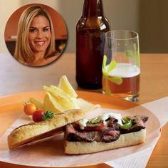 Cat Cora's Sunday Cheesesteak Sandwich with Homemade Provolone Sauce