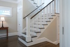 trim, benjamin moore super white + edgecomb gray