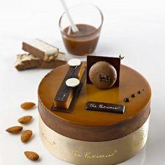 PBNC, crunchy peanut butter base, almond nougat, 80 º/○ Valrhona Chocolate mousse  caramel crème brûlée