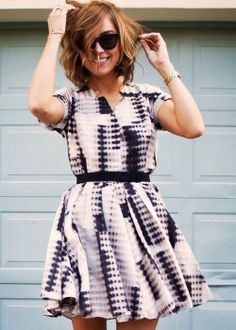 Nice print and cut. I love the short sleeves. The top is perfect.
