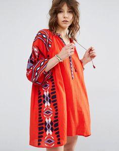 Maison Scotch Boho Dress With Cool Embroideries