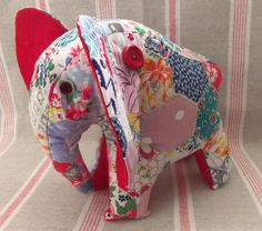 Charlie the Patchwork Elephant (2) by Bustle & Sew, via Flickr