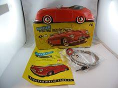 Distler Porsche  Rot  Blechspielzeug OVP mit Beschreibung Fernlenkung verkauft!