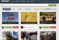 Opinsy est une plateforme pour lancer des débats publics en ligne et donner son opinion.