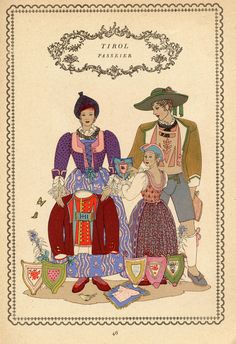 Tirol 46 Folk Costume, Costumes, Austria, Folklore, Germany, Culture, Regional, Switzerland, Prints
