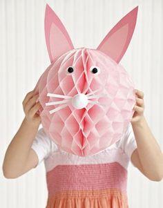 Conejo de papel, encuentra más manualidades para pascua en http://www.1001consejos.com/manualidades-para-pascua/