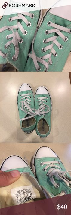 Teal/Aqua Converse | back to school! Worn 5 times out of house / well kept and clean! Sitting in my closet and they need a new home! Converse Shoes Sneakers