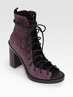 Ann Demeulemeester Suede Lace-Up Ankle Boots  - Still my favourite after many years  I'll take one in every colour, please.