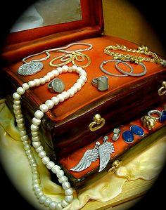 jewelry box cake by debbiedoescakes