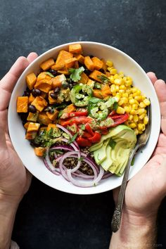 Sweet Potato Black Bean Quinoa Bowls | Easy Dinner Recipes | Quick Easy Dinner Ideas | Easy Healthy Recipes