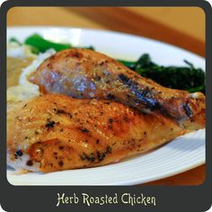 Herb Roasted Chicken-Delicious and moist oven roasted chicken. Better than store bought rotisserie chickens!
