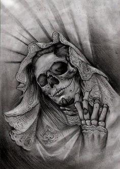 Skull Girl Tattoo, Skull Tattoo Design, Tattoo Design Drawings, Skull Tattoos, Tattoo Sketches, Body Art Tattoos, Girl Skull, Foot Tattoos, Tattoo Designs
