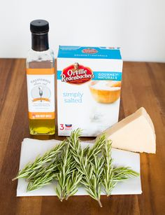 rosemary parmesan black pepper popcorn ingredients