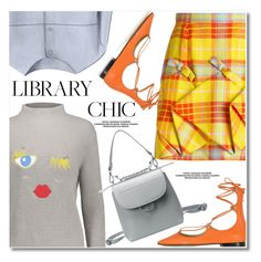 """""""Study Session: Library Chic"""" by fshionme ❤ liked on Polyvore featuring Delpozo, Pinko and librarychic"""